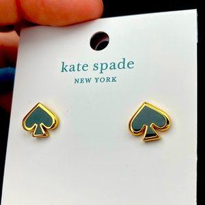 NWT ♠️✨ Kate Spade Black Spade Earrings